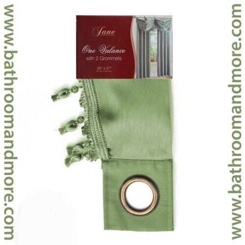Faux Silk Window Drapery  8-Gommet Panel or 2-Grommet  Tassled Valance