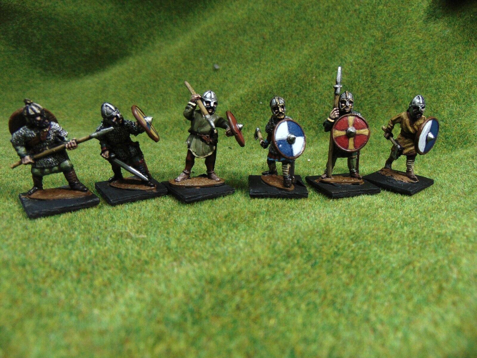 6 x pro painted 28mm Dark age Saxon hearthguard thegns Saga Lion Rampant lot 2