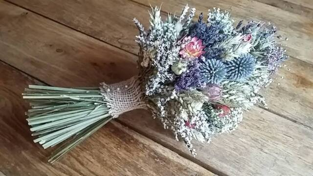 Dried Flower Wedding Bouquet by Florence and Flowers Scottish ...