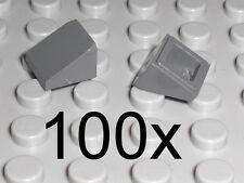 LEGO - 100x Dachstein 30 Grad 1x1x2/3 neu dunkelgrau - Slope Schrägstein 54200