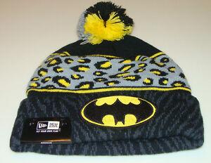 e36109252dd Details about Batman DC Comics Cap Hat New Era Beanie Toque Polar Print  Spots Dots Action Hero