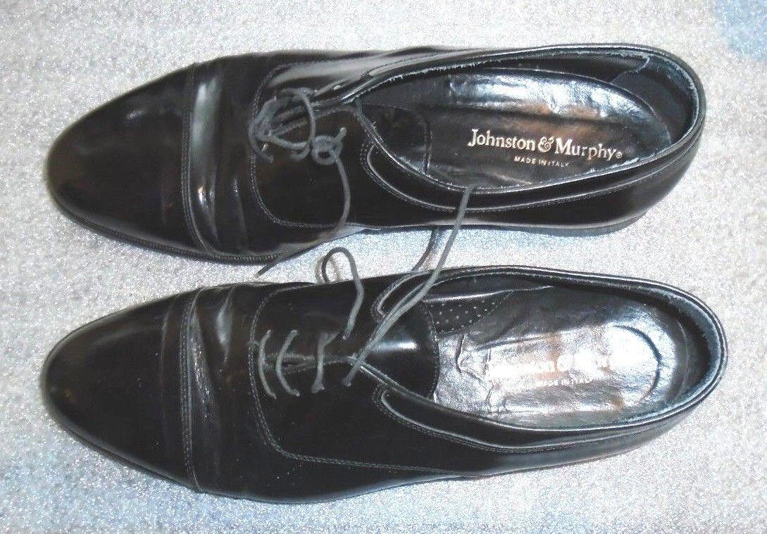 mens Johnston & dress Murphy black leather oxford dress & shoes 11 M 49b099
