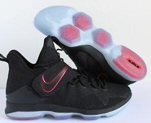 superior quality 7c14b 23c97 Image is loading Nike-LeBron-XIV-14-BRED-BLACK-UNIVERSITY-RED-