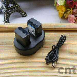 2x-NP-FW50-Battery-DUAL-USB-Charger-For-Sony-NEX-7-NEX-5N-NEX-F3-NEX-3D-CAMERA