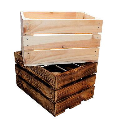 Geflammte Apfelkisten Obstkisten Weinkisten Holzkisten DEKOVintage 30x30x30 S4-O