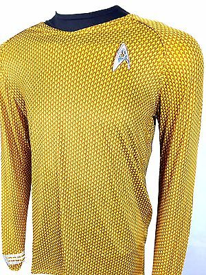 KIRK Command GOLD Shirt uniform costume star trek 2009 with Fleet Badge Insignia