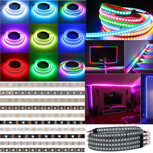 WS2812B-LED-Strip-30-60-144-LEDs-M-5050-RGB-WS2812-IC-Individual-Addressable-5V