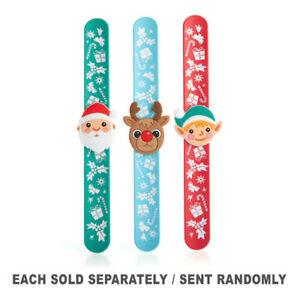 Christmas-Spirit-Snap-on-Wrist-Band-with-Removable-Badge-in-3-Assorted-Designs