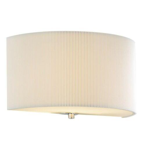 Dar LightingZaragoza Crème Plissé Wall Light ZAR0133RRP £ 69