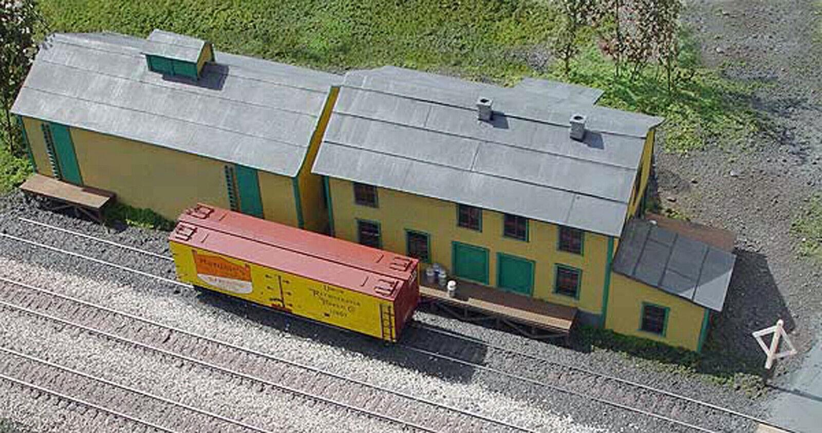 CREAMERY S Scale modello Railstrada Railstrada Railstrada Structure Unpainted Laser-Cut Wood Kit LA580 3f60bf