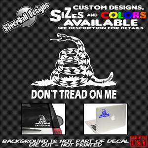 Dont-Tread-On-Me-Custom-Decal-Sticker-Window-Car-Truck-Gadsden-USA-Freedom-USMC