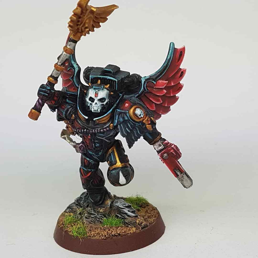 WARHAMMER 40K BLOOD ANGELS - CHAPLAIN Propainted Commission to Order