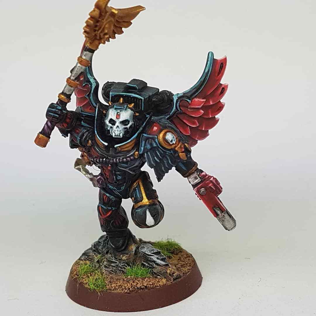 Warhammer 40K Blood Angels-capellán propainted comisión a pedido