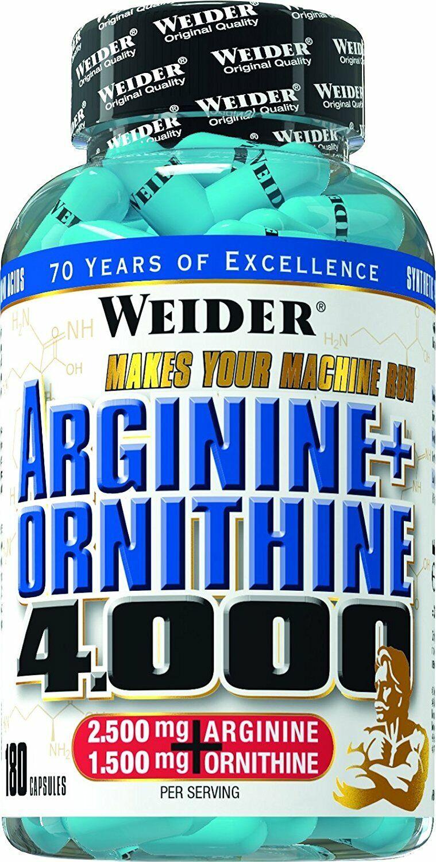 Genuine Weider Arginine Ornithine 4.000 muscles sport athlete 180 caps suppl.