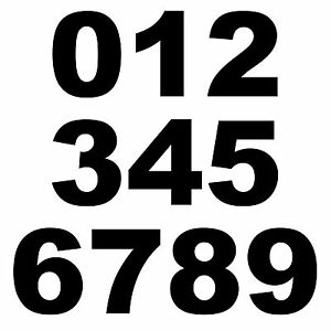 Details Zu Hausnummer Haustür Aufkleber Briefkasten Zahl Nummer Startnummer Zahlen Arialblk