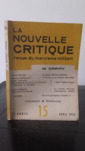 La Nuovo Critica - Rivista di Un Marxismo Attivista - Avril 1950 - 2ème Anno