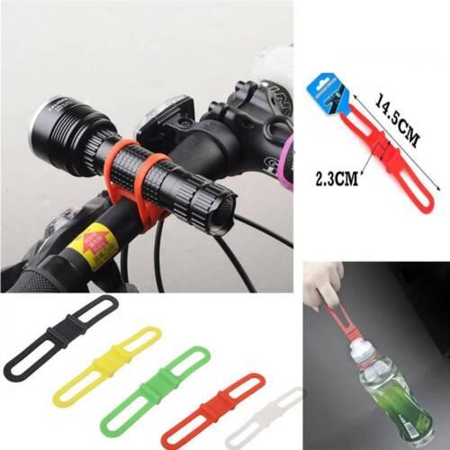 5x Bicycle Flashlight Torch Handle Bar Holder Mount Elastic Strap Bandage