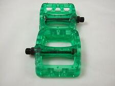 ODYSSEY BMX TWISTED PLASTIC PEDALS - LIME /CLEAR - BMX BIKE - NEXTKARTING -