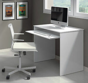Image Is Loading Milan Compact Computer Desk White Gloss Small Workstation