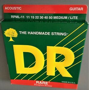 DR-Medium-Light-11-50-Phosphor-Bronze-Acoustic-Guitar-Strings-MADE-IN-USA-NEW