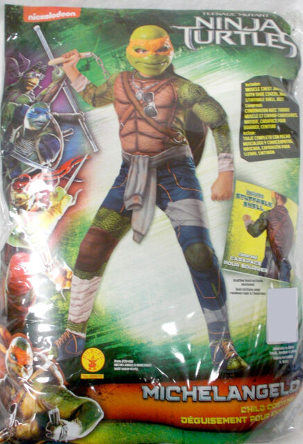 Ninja Turtle Mutant Movie Child Michelangelo Costume Size Small 4-6