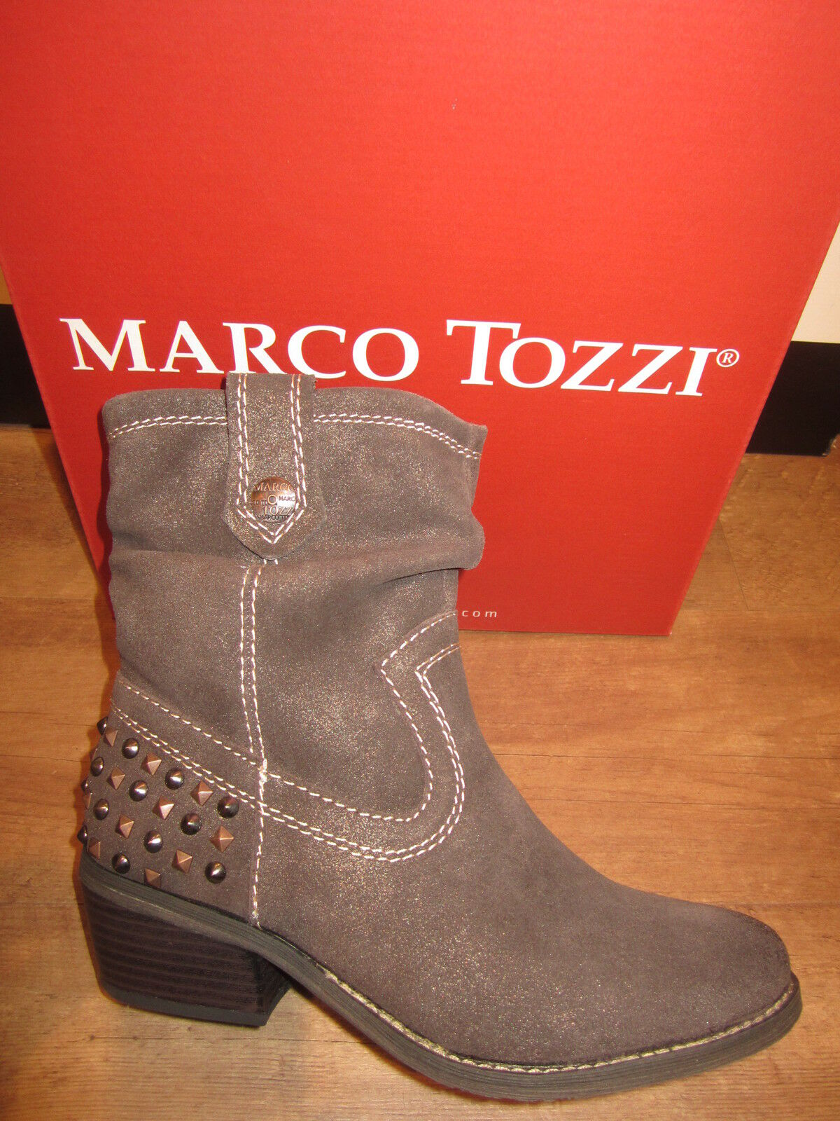 Marco Tozzi Ankle Boots Ankle Boots Brown Leather Lightly Lined New