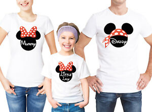 Mummy Child shirts T Set And White Text Daddy Family Custom Ears Mouse With qPZpxCw