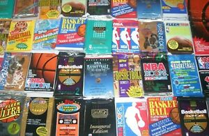 100 Unopened Vintage Basketball Cards in Factory Sealed Packs of NBA Cards