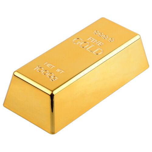 Fake Gold Bar Platte Bullion Türstopper Papiergewicht Schreibtisch Büro Tisch