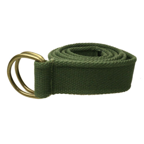 40mm Fashion Fabric Webbing Waist Casual Unisex D Ring Canvas Belt UK Seller