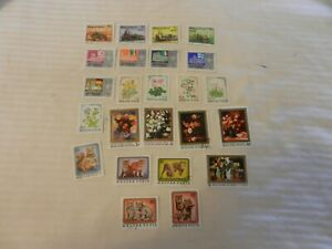 Lot-of-24-Hungary-Stamps-from-1976-1979-Trains-Olympics-Flowers-Art-More