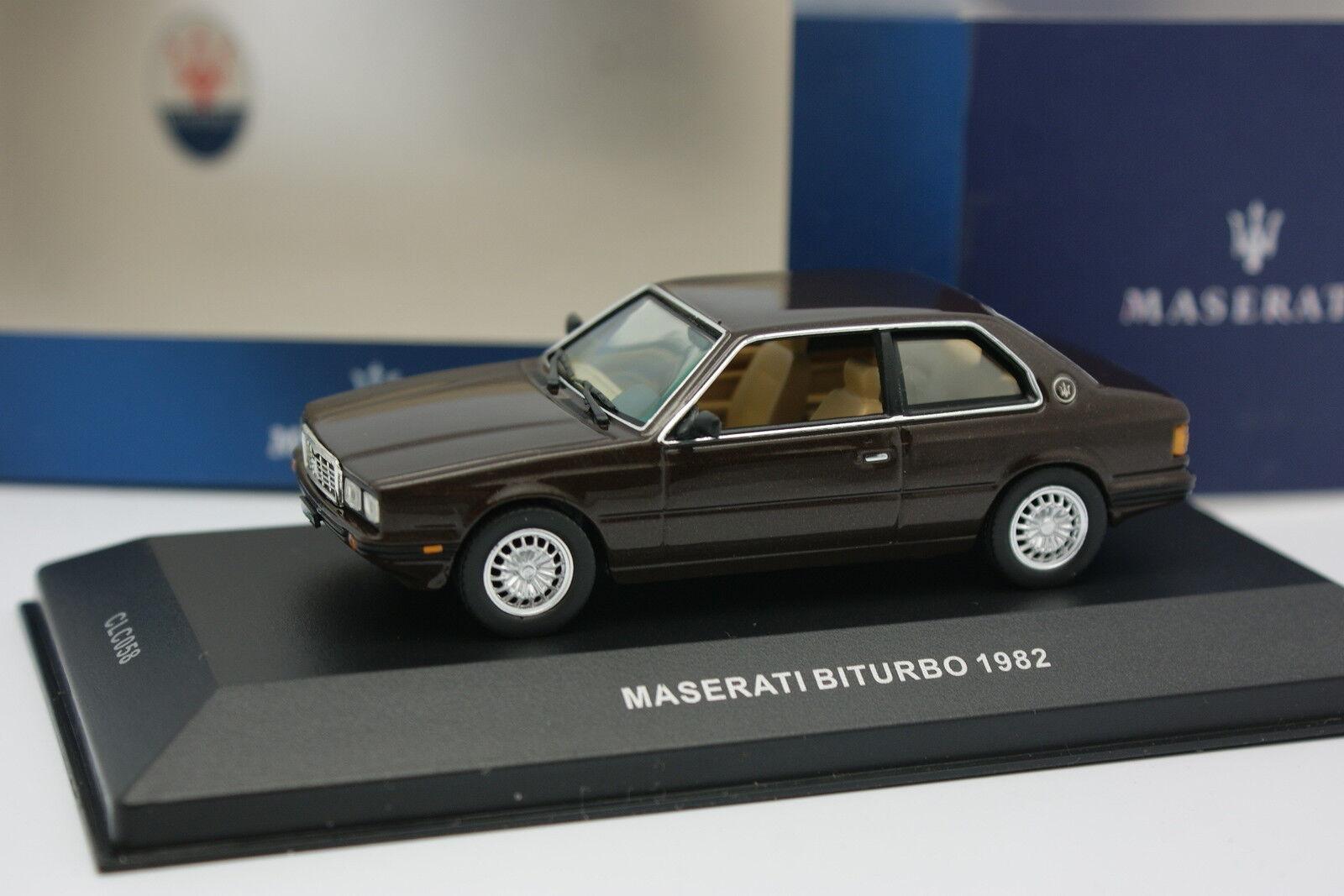 IXO 1 43 Maserati Biturbo 1982 Brown