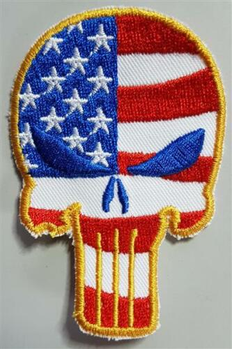 Patch Badge Skull Skull USA Flag without Velcro