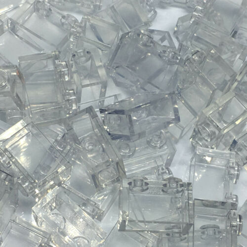 Neuf-LEGO 50 1 x 2 brique Translucide//Clair 3065 Fenêtre//verre 3004