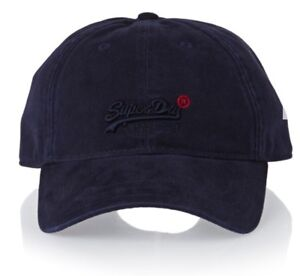 0614f2403 Details about SUPERDRY MEN'S NAVY BASEBALL CAP DAD HAT AUTHENTIC ONE SIZE  FITS ALL