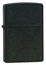 """Zippo """"Black Crackle"""" Finish Lighter, Full Size,  236"""