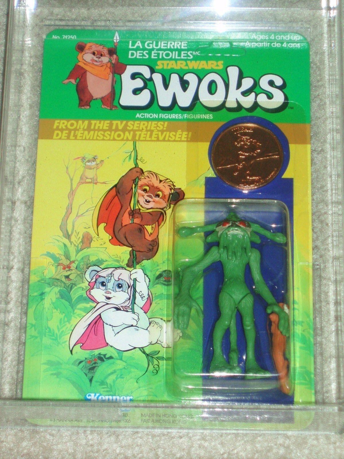 De colección Guerra de las galaxias 1985 Figura de Acción autoridad 80 85 85 dulok Scout error urgah moneda Ewoks Tarjeta Menta en tarjeta