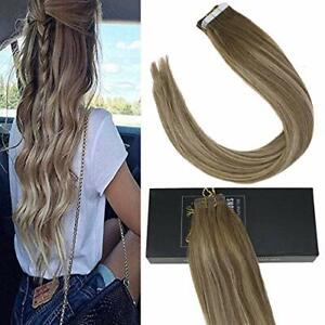 Sunny-Tape-in-Hair-Extensions-Remy-Human-Hair-Balayage-Brown-mix-Blonde-8-18-8