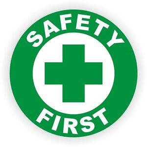 safety first hard hat decal helmet sticker 1st safe worker aid