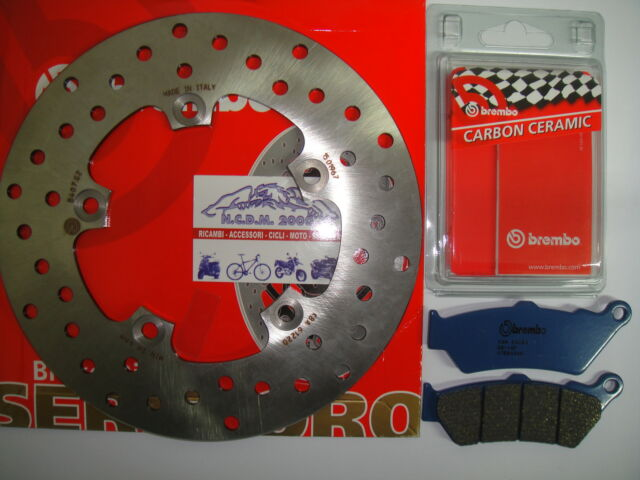 BRAKE DISC BREMBO+PADS FRONT BMW 125 C 1 FRIENDS FROM 2001 7G2