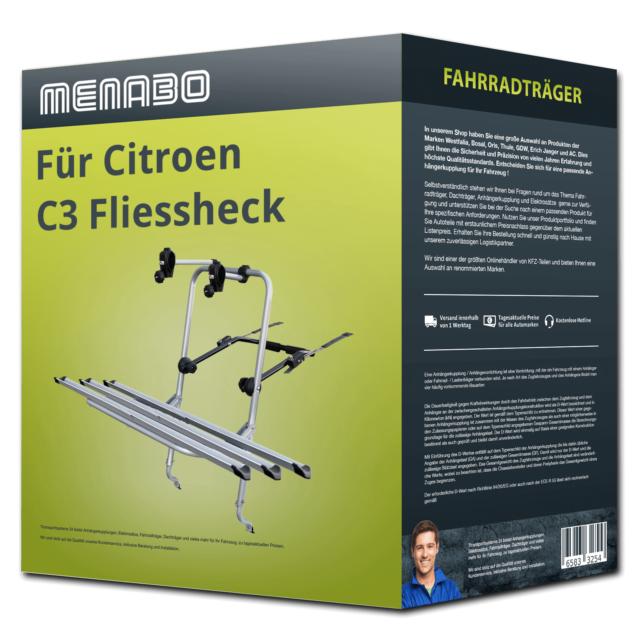 Fahrradträger Menabo Logic 3 für Citroen C3 Fliessheck 01.17- 3 Fahrräder  NEU