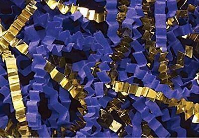 or 8 oz. Crinkle Cut Paper Shred Gift Basket Paper Grass Filler-Royal Blue 4 oz
