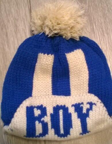 Unusual--See description baby hat winter warm fur girls boys beanie cap 6-12 M