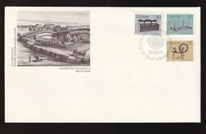 Canada FDC 1985 sc#928/930/933 Artifact definitives combo