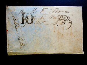 CONFEDERATE ADVERSITY COVER CHARLESTON to NEW CENTER, S.C. LOT1253