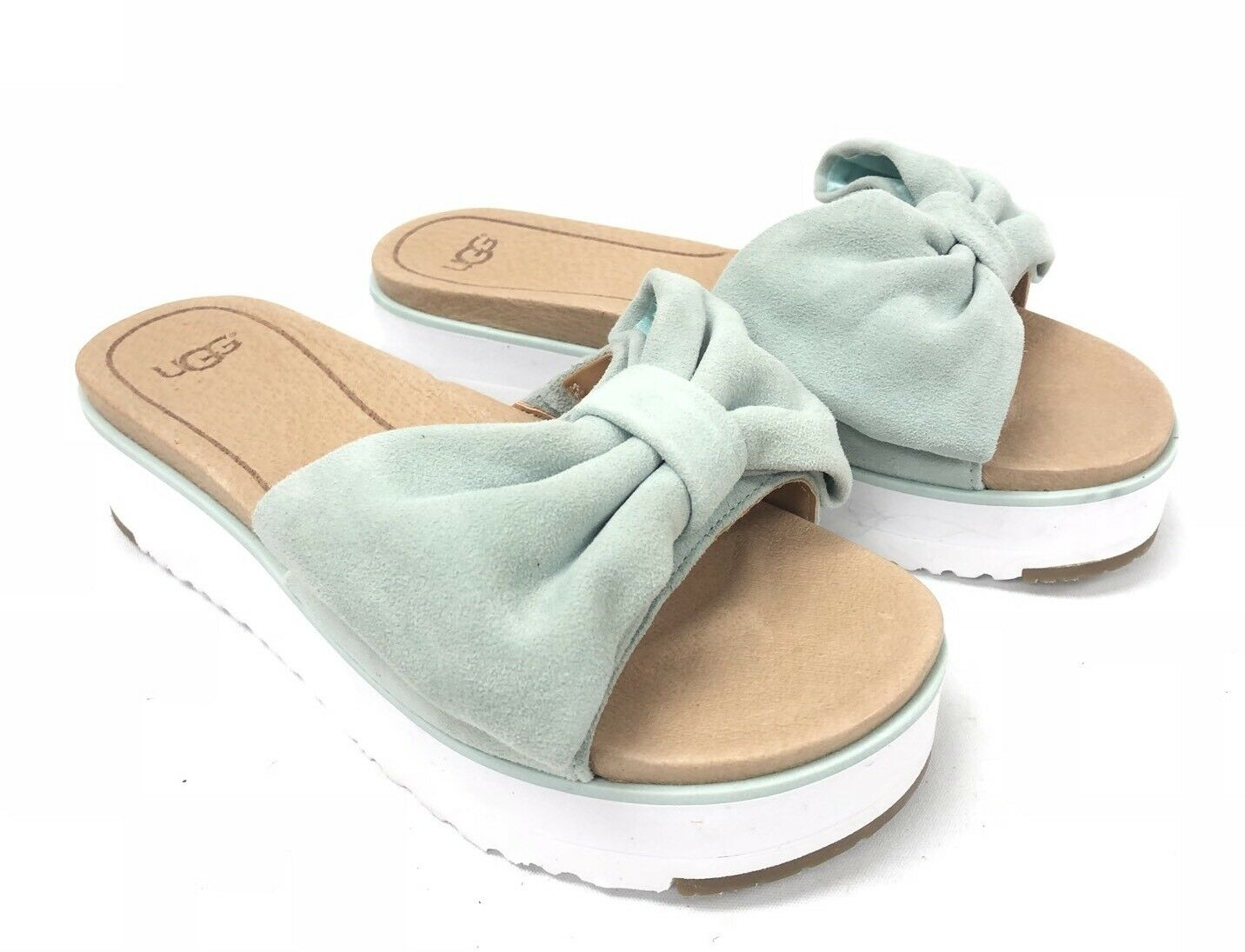 UGG Australia Joan 1019868, aqua blue, cravate, sandales, chaussures, plateforme