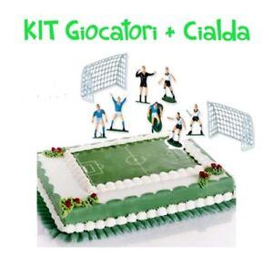 Kit Torta Calcio Giocatori Cialda A3 Campo Calcio Per Torta Decorazione Ebay