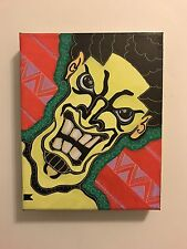 Not a Selfie 10x8 Abstract Painting Pop Art on Stretched Canvas