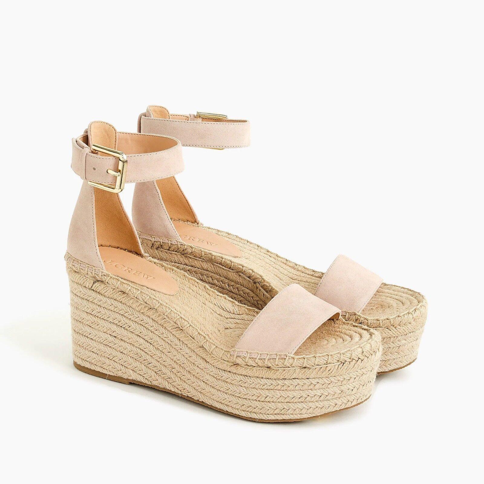 Nuevo con etiquetas J. Crew Para Mujeres Plataforma Zapato Gamuza Sandalias-delicado Pétalo-tamaño 6