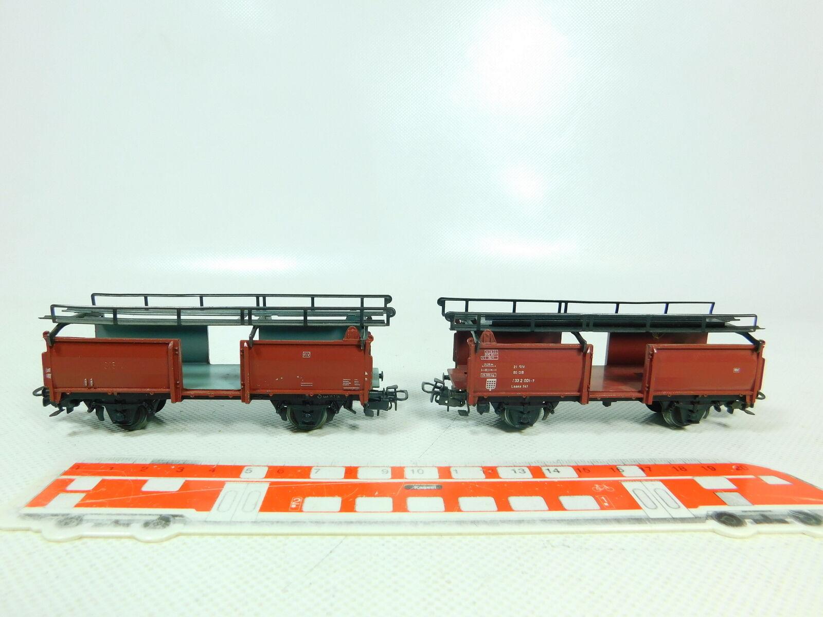 BT606-0,5  2x   H0/Ac 4612 Carro per Trasporto di Autovetture Db : 433 2